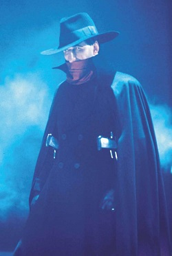 Alec Baldwin as the eponymous character in the 1994 film The Shadow. The Shadow (Alec Baldwin).jpg