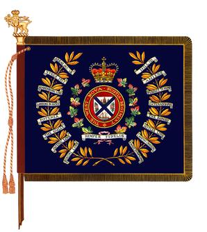 The regimental colour of the West Nova Scotia Regiment.