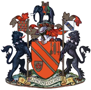 The coat of arms of the former Bolton County Borough Council Bolton County Borough Council - coat of arms.png