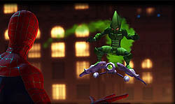 Green Gobllin as he appears in Spider-Man: Fri...