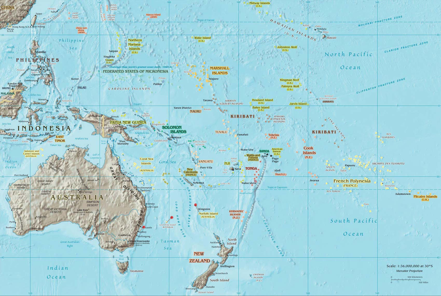 Pacific Ocean Topographic Map.File South Pacific Map Jpg Wikipedia