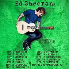 Ed Sheeran Tour Support