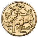 Official currency used in Australia; also used in Kiribati, Nauru, Tonga, Tuvalu, and Vanuatu