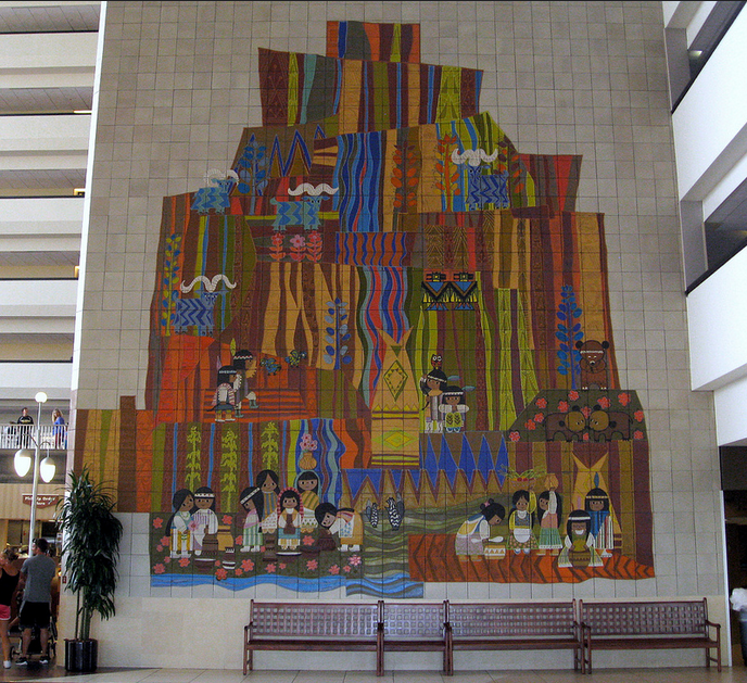 File disney 39 s contemporary resort mary blair for Disney world mural