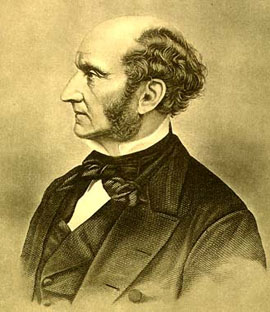 {{En|John Stuart Mill. 19th century Photogravu...