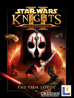 The PC cover for Chris first SW game, Kotor II: The Sith Lords