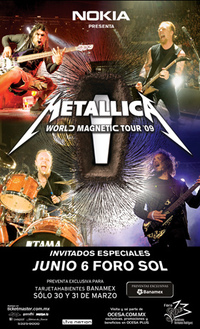 Death Magnetic Tour Dates
