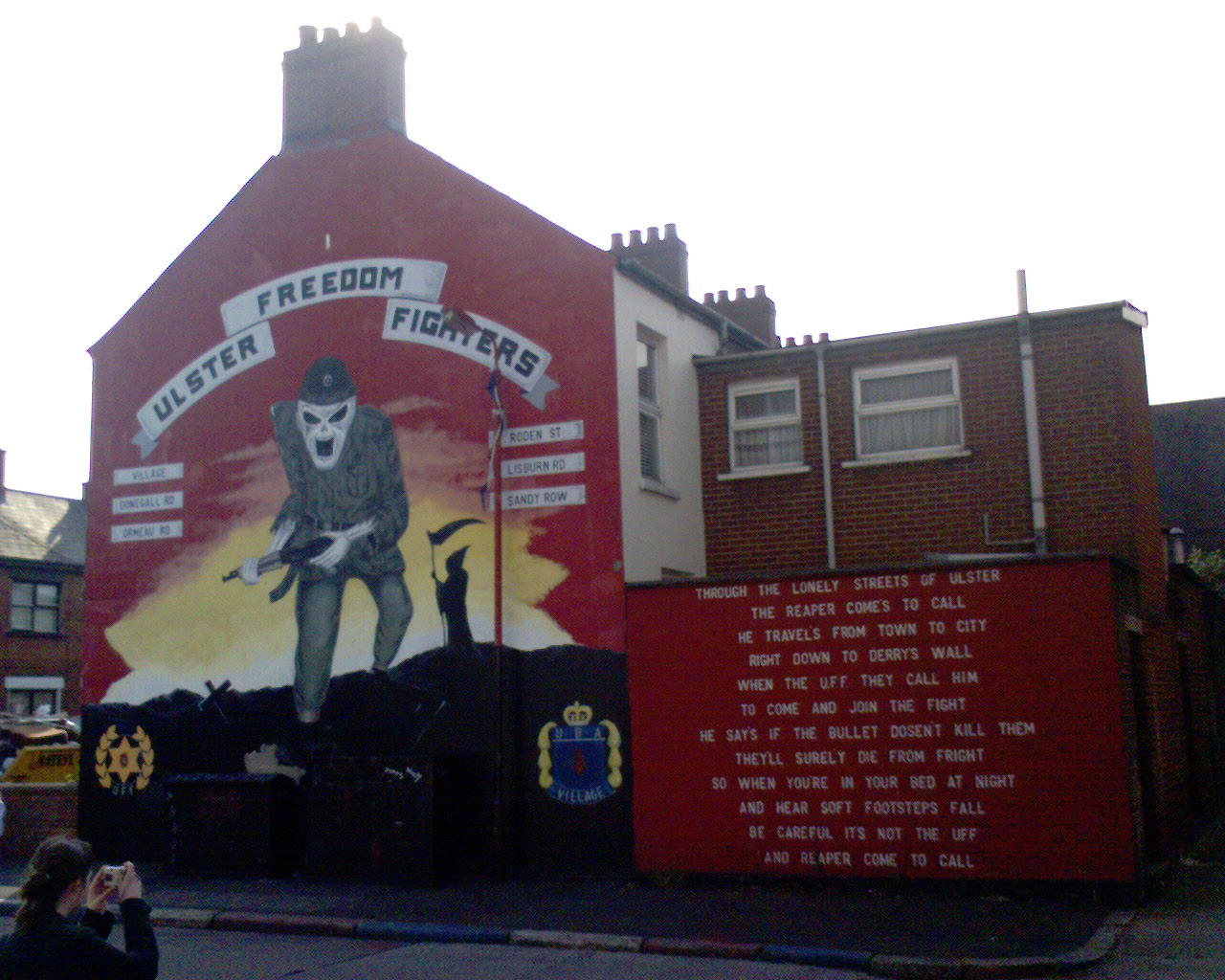 Warning About Death Of Freedom From >> File Ulster Freedom Fighters Mural Death Warning Jpg Wikipedia