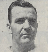 A headshot of Mel Maceau from a 1946 Cleveland Browns game program