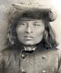 Snoqualmie chief Patkanim led a raid on Leschi's camp in winter of 1856 but the elusive Nisqually chief avoided capture.