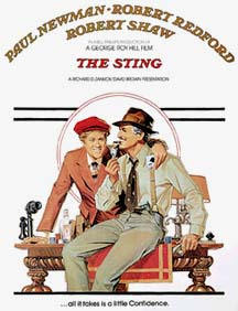 The Sting dvd cover. Recenserad här på filmtips
