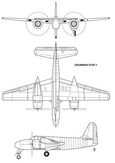 Three-view drawing of the XTSF-1 from Johnson 2008.
