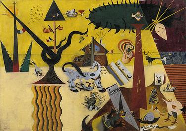 Joan Miró - The Tilled Field