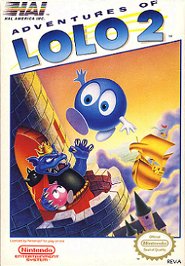 Famicom - Adventures of Lolo 2 Box Art