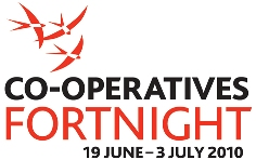 Logo of the first ever Co-operatives Fortnight