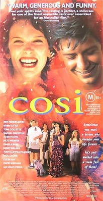 cosi by louis nowra themes Cosi is a semi autobiographical play composed by louis nowra it encompasses themes of love and fidelity during a time of tumultuous change in society s.