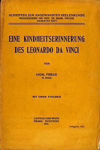Leonardo da Vinci and a Memory of his Childhood, German edition.jpg