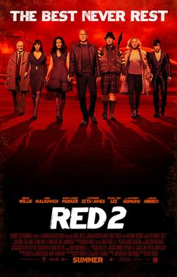 Movie release poster for Red 2, courtesy Summit Entertainment