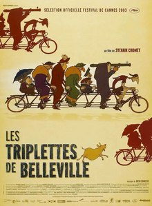 The film post features several characters riding bikes with information about the film surrounding them
