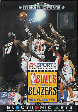 SNES - Bulls versus Blazers and the NBA Playoffs Box Art
