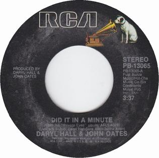Did It in a Minute 1982 single by Hall & Oates