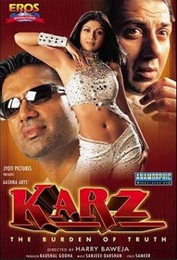 Karz: The Burden of Truth (2002) SL YT - Sunny Deol, Sunil Shetty, Shilpa Shetty, Ashutosh Rana, Sayaji Shinde, Kiron Kher, Johnny Lever, Himani Shivpuri, Shahbaaz Khan, Vishwajeet Pradhan, Deepak Shirke, Rajeev Verma, Shammi, Adi Irani, Arun Bakshi