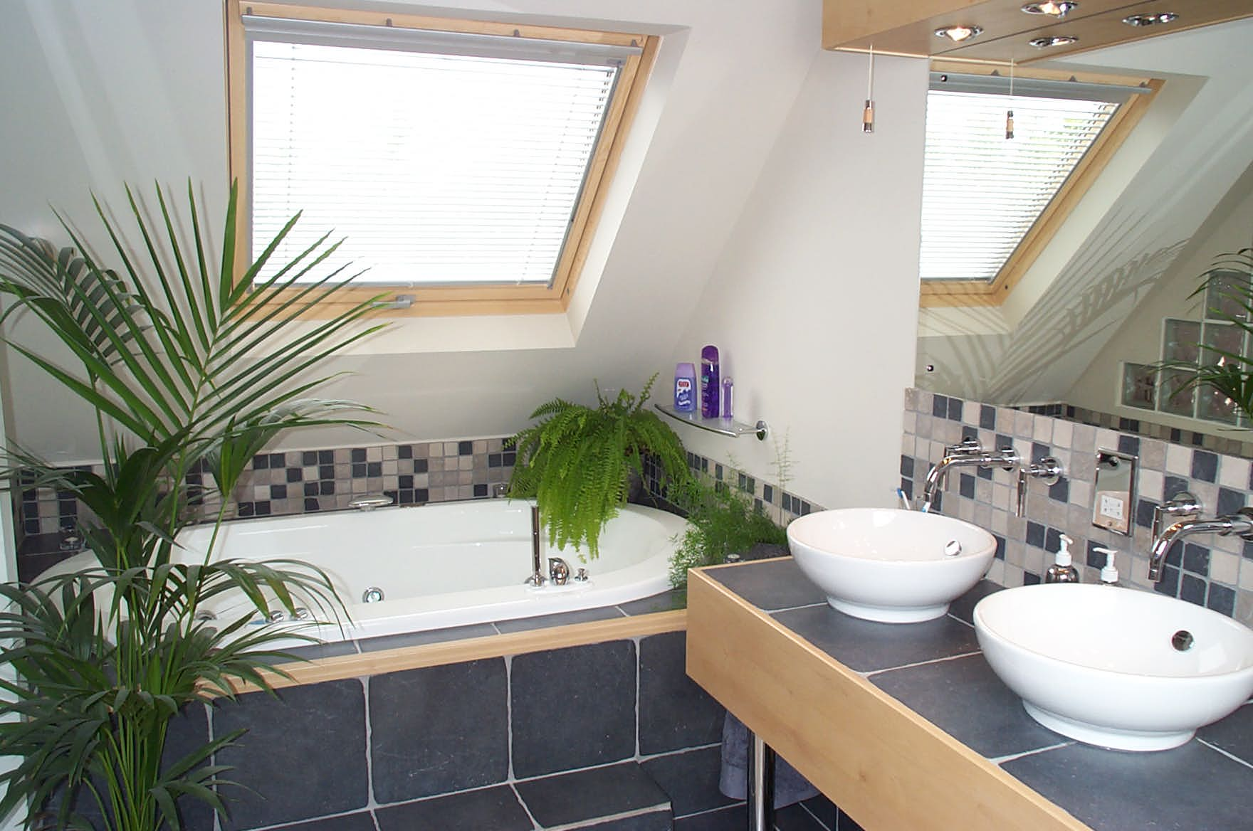 A bathroom as part of a fantastic loft conversion in the home