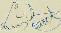 Armstrong's autograph from the 1960s