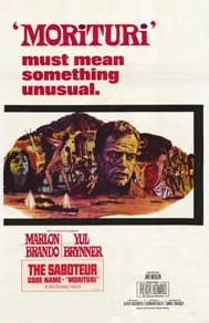 Original movie poster for the film Morituri.jpg