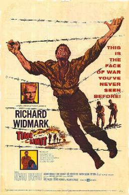 Time limit Richard Widmark vintage movie poster