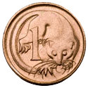 Australian One Cent Coin