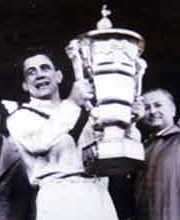 Captain of the winning British team, Dave Valentine, presented with the trophy at the inaugural World Cup in 1954 Dave Valentine.jpg