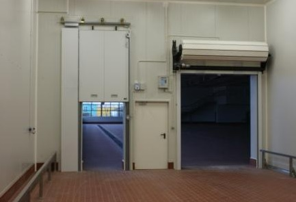 Fire rated vertically sliding gate, fire rated swing door and fire rated roller shutter.