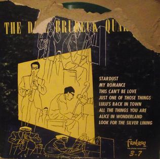 <i>Dave Brubeck Quartet</i> (album) 1952 studio album by The Dave Brubeck Quartet