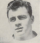A headshot of John Harrington from a 1946 Cleveland Browns program