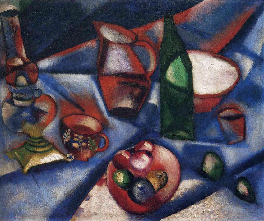 Marc Chagall 1912 Still Life Nature Morte Oil On Canvas Private Collection