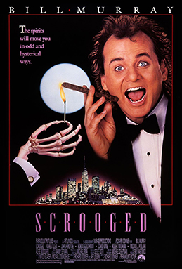 Scrooged film poster.