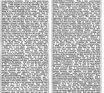Part of column 4, page 7 of The Times for 23 January 1882: First edition (left), replacement edition (right).