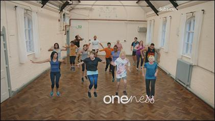 The BBC One 'Exercise Class' ident (2017-2020) BBC One 'Oneness' Exercise Class Ident.jpg