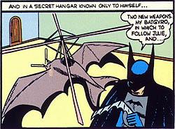 Batplane fictional aircraft for the comic book superhero Batman