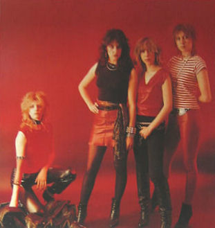 Girlschool upgraded their look in 1983 to appeal to the US market Girlschool poster84.jpg
