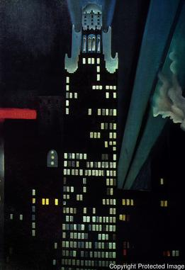 Georgia O'Keeffe, Radiator Building—Night, New York, 1927, The Alfred Stieglitz Collection, Crystal Bridges Museum of American Art, Bentonville, Arkansas