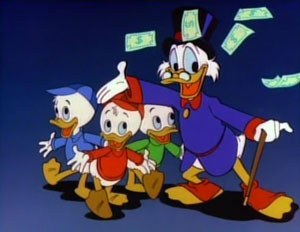Scrooge stars alongside his grandnephews on Du...