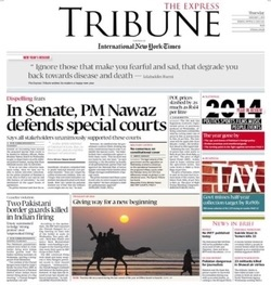 Front Page on January 1, 2015
