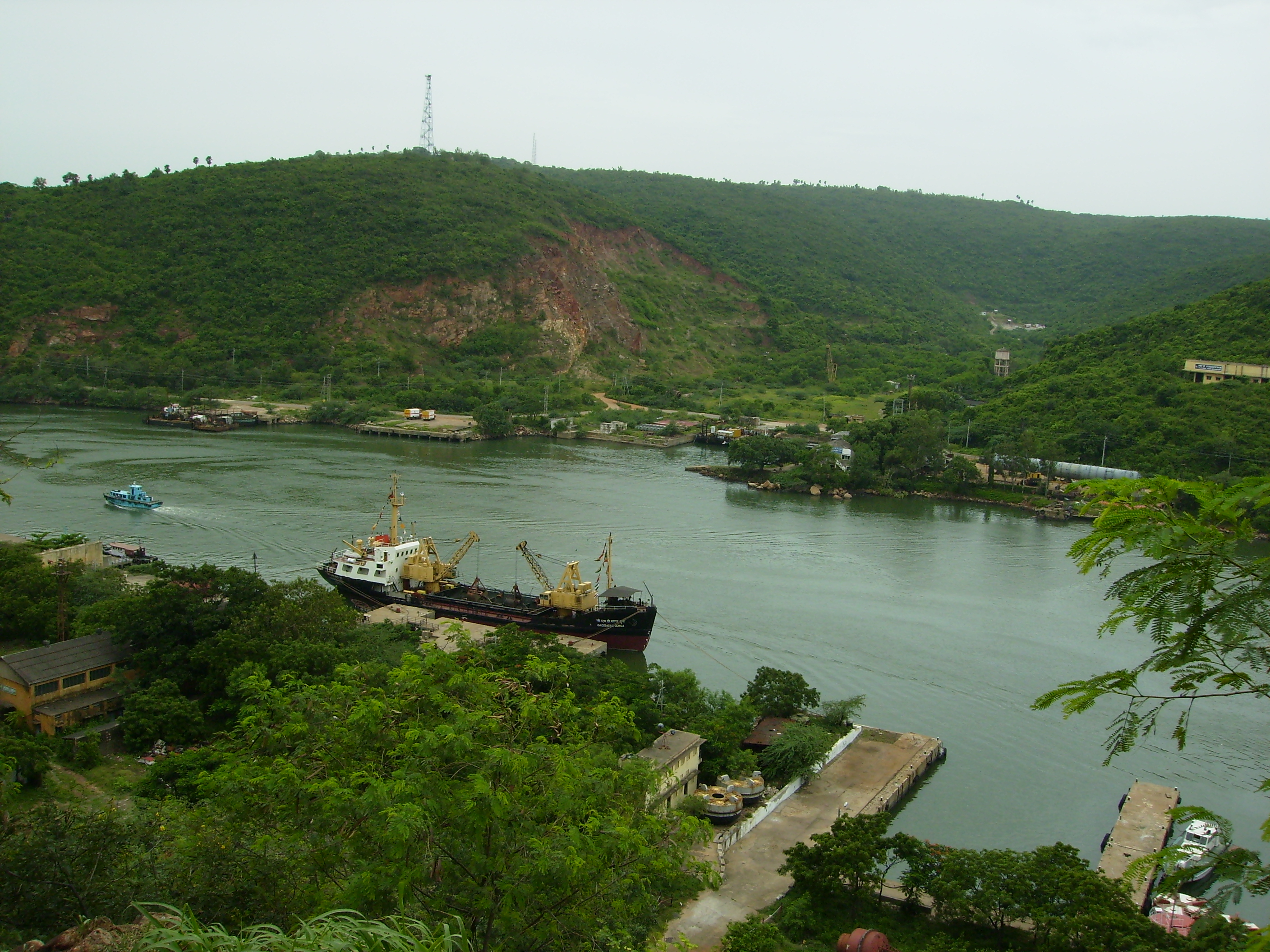 Megadri River Channel that connects Outer Harour of Visakhapatnam Port with Inner Harbour