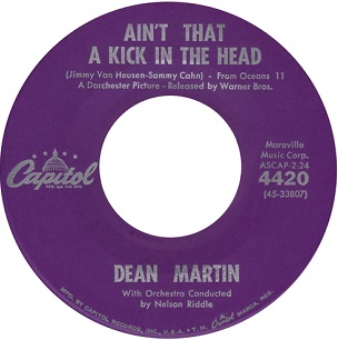 Aint That a Kick in the Head? 1960 song by composer Jimmy Van Heusen and lyricist Sammy Cahn