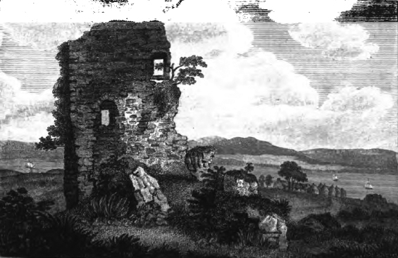 The ruins of Easter Greenock Castle at the beginning of the nineteenth century.