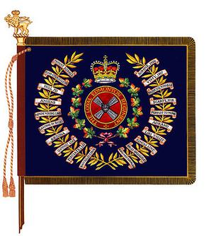 The Regimental Colour of the Loyal Edmonton Regiment.