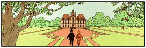 Captain haddock's Marlinspike Hall. In reality: Cheverny;