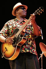 The music of Taj Mahal for the 1972 movie Sounder marked a revival of interest in acoustic blues. Tajmahalblues.jpg